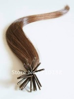 Pre-bond hair, I tip hair extensions, 100% human hair, Brown, 0.5g, 12-22 inches,