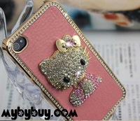5X For iPhone 4 4S 3D Hello Kitty Diamond Case. IP4821