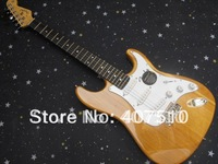 New Arrival Stratocaster 6 string  nature wood    Electric Guitar !! Free shipping