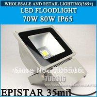 Free shipping /DHL LED Floodlight 80W IP65 AC85-265V Epistar 35mil 6400lm warm white / cool white