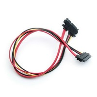 FreeShipping Cheap Hot Selling Serial ATA Sata 15+7 Pin Female to Male Extension Data Power Cable Wholesale E02040086