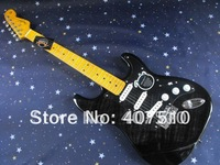 New Arrival black Stratocaster  6 string  black  Electric Guitar !! Free shipping 8