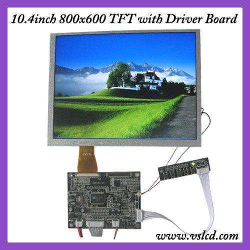 VGA+AV+OSD tft driver board HCR-N1 V3+10.4inch tft lcd module A104SN03 800*600 4:3 TFT LCD display(China (Mainland))