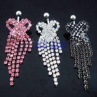 JFB-3335  free shipping,navel ring,wholesale,mix color choice!!!