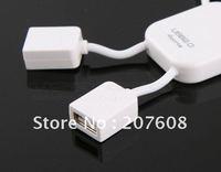 150pcs/lot UPS EMS DHL Lovely White Human Shape Laptop PC 4 Port USB 2.0 Hub