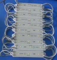 Promotion!!!20pcs White Color 3 SMD 3528 Waterproof led module DC12V;75mm*14mm;7lm/led