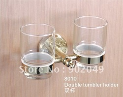 Double Tumbler Holder Bathroom Glass Cup Holders Bathtub Enclosures KG-8010(China (Mainland))