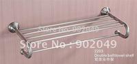 Modern Design Double Bathtowel Shelf  Towel  Ring Bathroom Enclosure KG-2203 Free Shipping