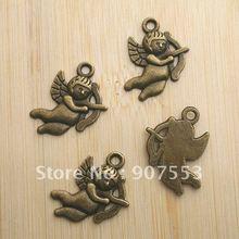 24pcs antiqued bronze Cupid design pendant charm G622