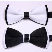 Fashion Mens Black White Bow Tie / Classic Necktie (SE-87)
