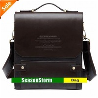 [CPA Free Shipping] Hot Sell Mans Classic PU Leather Business Shoulder Messenger Bag (SG-59)