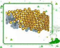 SS30 (6.4-6.6mm DMC Hotfix rhinestone hotfix stones 288pcs per lot TOPAZ color Flat back