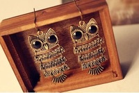 Min Order $20 (mixed order) Retail Vintage Owl Earrings Jewelry / Gift Ear Nails (SW-98)