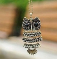 Min Order $20 (mixed order) Retail Vintage Owl Necklace / Fashion Gift Jewelry  (KC-03)