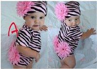 Baby Girls suit kids children romper + caps big flower 2 pc set girls suits 0401 B zhh
