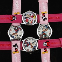 30pcs Mickey Mouse Watches Leather Band Children Students Resale Tom and Jerry PFN2 PT62