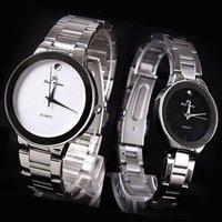 Luxury Choice 4 pairs Pretty Couple Quartz Lover Watches Man-White Lady-Black love 407TN