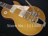 free shipping wonderful sound gold top custom electric guitar