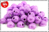 Free Shipping (200 pcs)Fashion Accessories Shambhala Spiky Ball Beads Wholesale And Retail+Size10mm+Purple Color AB045