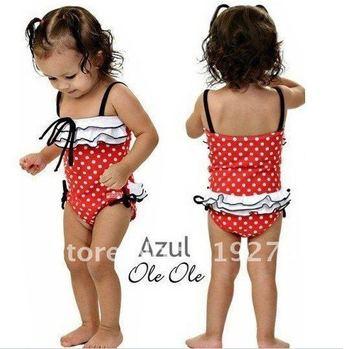 free shipping hight quality swimwear suit +cap,kid's bikini baby swimwear kid beachwear swimming suit baby girl swimming wear