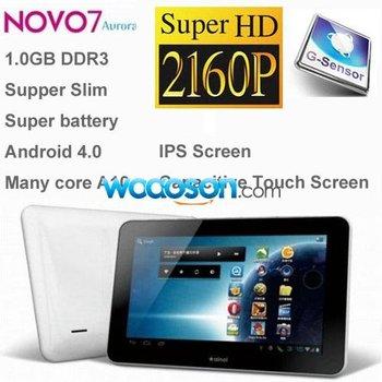 Ainol Novo 7 Aurora 7 inch +Android 4.0 +IPS Capacitive Multi_Touch Screen +HDMI 2160P+1GB RAM+8GB HDD ROM+Allwinner A10