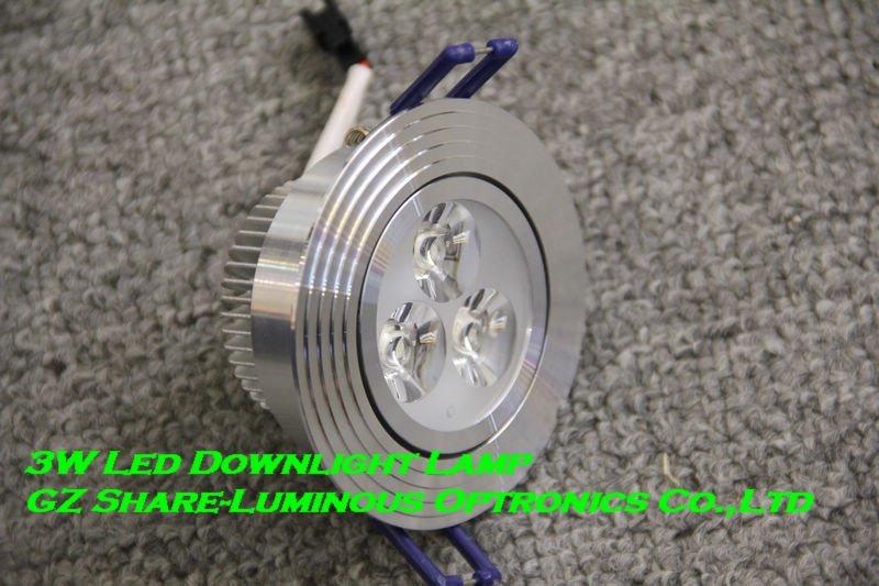 Professional! High quality Epistar 3W LED Downligh/Down Light/300lm/W/2700K-6500K/Super treatments/86mm Diameter Free Shipping(China (Mainland))