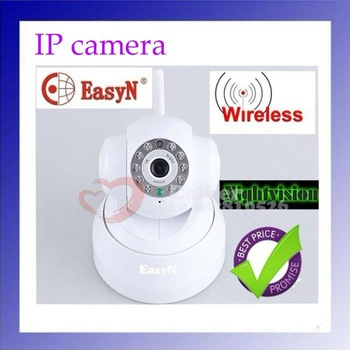 EasyN WIFI IR 2-Audio Webcam Wireless IP Camera with color box , freeshipping,dropshipping