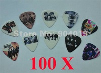 Lots of 100 Pcs The Beatles 2 sides printing Guitar Picks