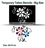 6pcs(bottle) - Glitter Tattoo Powder for Body Art -Temporary Tattoo/ body painting Kit -w/ Brushes/Glue/Stencils - free shipping