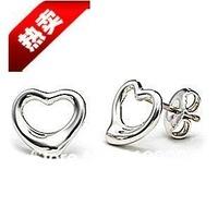 925 silver earrings eardrop lovely heart ear hammer heart-shaped earrings E8507 Wholesale