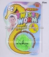 Free shipping Magic worm/Squirmles/Slideyz/Twisty worm/wiggles/Bulk packing/Magic Tricks