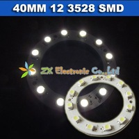 Free shipping 40mm 12 3528 1210 SMD LED angel eyes + Wholesale + 5 pair /lot + Car halo rings light  lamp white color