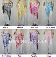 D19+Belly Dance Dancing Triangular Shawl Wrap Hip Scarf Dancewear Costumes 8 Colors