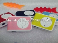 gift player Q type key Clip mp3 player with card slot supporting TF card Free shipping
