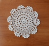 Free shipping 6.7 inch Euro Circle design Ivory Handmade Crocheted Doilies - 20pcs/lot   / Diameter : 17 cm  wholesale