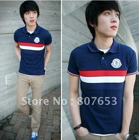 2012 POLO shirts New Fashion Men cotton shirts Boys Short Sleeve T