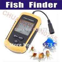 New 100m Portable Sonar Sensor Fish Finder Alarm LCD FishFinder Transducer