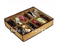 foldable fibre storage bag box case container tidy organizer for 12pair of shoes 12 cell whcn+