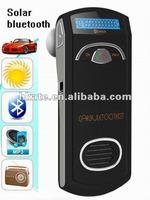 5pcs/lot New Car Bluetooth handsfree solar powered + car mp3 player fm transmitter fm modulator + micro sd card slot AT-B022E