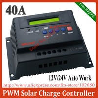 Free Shipping 12V/24V auto work 40A Solar Charge Controller,solar panel controller,CPU control and LCD-display, C2460-40