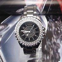 Наручные часы Luxury Top Quality White Ceramic watch Women ladies fashion Full Crystal quartz wrist Watch