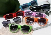 Free shipping 10PCS Fashion women's  Jelly Sunglasses 12 colors Can Mix colors