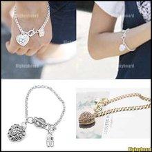 heart silver bracelet promotion