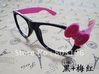 Free Shipping 10PCS Hello Kitty Black Eyeglasses Frames 4 Colors Legs