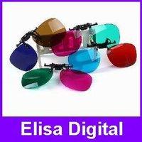 Free shipping Plastic frame clip 3D glass Red blue 3D stereo glass/3D glasses for myopia lens nearsightedness,RY9013