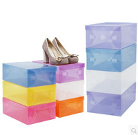 10PCS Thicken Crystal transparent Clear Shoe Box Shoes Storage BOXES Plastic PP Storage Box MIX Color Choose