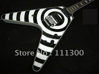 Wholesale Musical Instruments white & black Electric Guitar