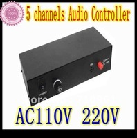 Free Shipping AC110V  220V 5 channels high pressure  Audio Controller