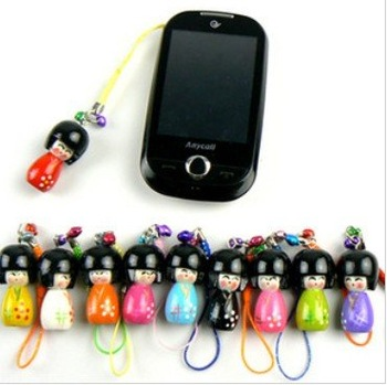 20Pcs/Lot Free Shipping/Cute Japanese Doll mobile phone pendant/strap/chain/MP3/MP4 Straps/sweet keychain/bag Pendant/charm