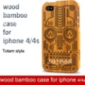 For iphone case, Wood Bamboo Case for iPhone 4G&amp;4S mobile phone Bamboo wood Case,Totem pattern style